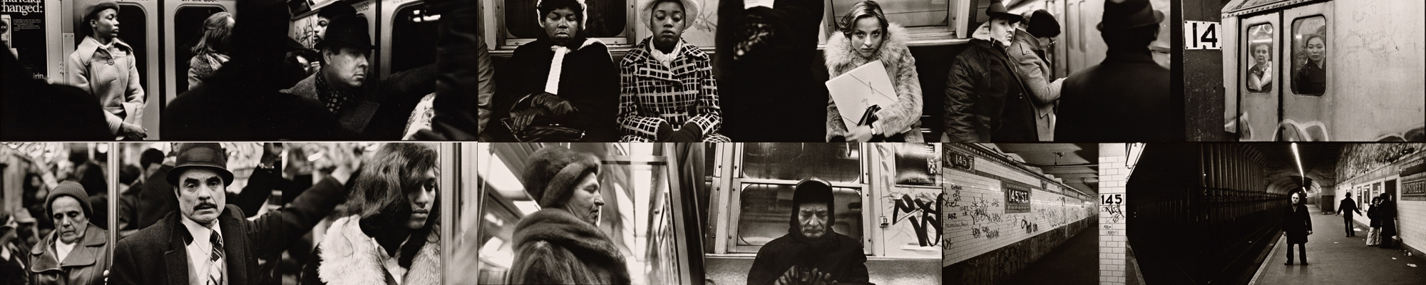 vintage pics of people on New York subway
